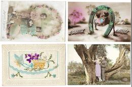 Fantaisies Divers - Lot De 100 Cartes - 1er Avril - Noël - Enfants - Femmes - Fleurs - Couples - Pâques - Etc - 100 - 499 Karten