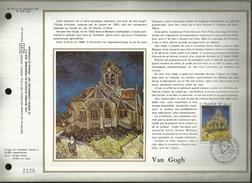 N° : 512 S DU CATALOGUE CEF.N° 333 / SOIE . VAN GOGH . L'EGLISE D'AUVERS-SUR-OISE .27 OCTOBRE 1979 . PARIS  . - FDC