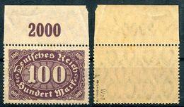 Deutsches Reich Michel-Nr. 219 Plattenfehler I Oberrand Postfrisch - Geprüft
