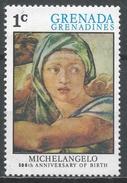 Grenada Grenadines 1975. Scott #68 (MNH) Delphic Sibyl, Work By Michelangelo (1475-1564) * - Grenade (1974-...)