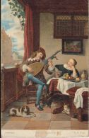 CPA PAINTINGS, HENDRICK MAERTENSZ SORGH- THE LUTE PLAYER - Malerei & Gemälde