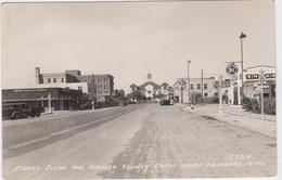 Street Scene And Hidatgo Coubty Court House-Edinburg, Texas. - Non Classés