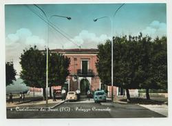 Castelluccio Dei Sauri (Foggia) - Palazzo Comunale - Anni '60 - Fiat 500 E Fiat 850 (acquerellata) - Foggia