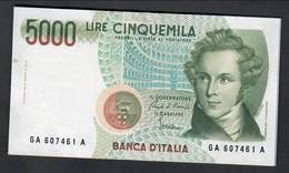 5000 Lire Vincenzo Bellini A 1985  Sup ( Sigle Vrie ) LOTTO 1709 - [ 2] 1946-… : Repubblica