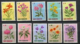 Saint Marin ** N°  791 à 800 - Fleurs - - Unused Stamps