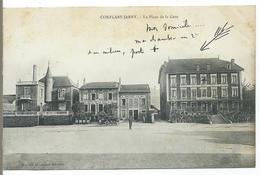 CONFLANS-JARNY - La Place De La Gare - Other Municipalities