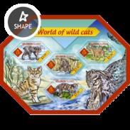 SOLOMON ISLANDS 2014 SHEET FELINS FELINES FELINOS RAUBKATZEN WILD CATS WILDLIFE Slm14411a - Solomoneilanden (1978-...)