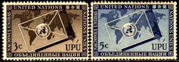 00827 Nações Unidas 017/18 Upu União Postal Universal Nn - New York -  VN Hauptquartier