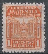 Guatemala 1945. Scott #RA22 (U) Arch Of Communications Building ** - Guatemala