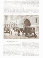 """LE NETTOYAGE DES RUES Avec LA MACHINE """" HERCULE """"  1890 - Transportation"""