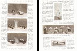 L'ELEVAGE DES ENFANTS ( BERCEAUX- TOURNIQUET-PROMENOIRS-ALLOIR-BOURGNE )  1890