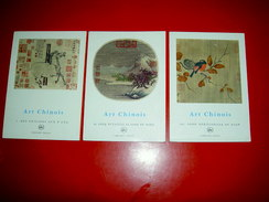 Art Chinois 3 Tomes Des Origines Aux T'Ang Cinq Dynasties Song Et Yuan  KEIM 1961 Peintures Chine - Art