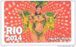 Germany - Media Markt - Brasil Rio WM 2014 - Samba Girl - 3D - Carte Cadeau - Carta Regalo - Gift Card - Geschenkkarte - Frankreich