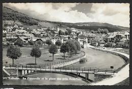 VALLORBE Rare La Passerelle Et La Place Des Près Sous Ville (Deriaz) Vaud Suisse - VD Vaud