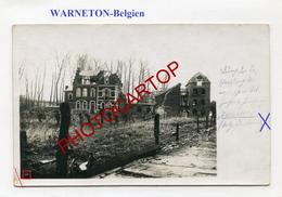 WARNETON-Carte Photo Allemande-Guerre 14-18-1 WK-BELGIEN-Flandern-Militaria- - Comines-Warneton - Komen-Waasten