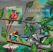 CENTRAFRICAINE 2014 SHEET BEE EATERS BIRDS LES GUEPIERS OISEAUX VOGELS PAJAROS BIENENFRESSER ABELHARUCOS Ca14618b - República Centroafricana