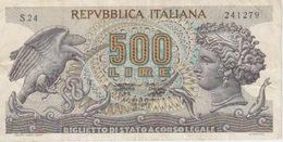 BANCONOTA - BIGLIETTO DI STATO A CORSO LEGALE - LIRE 500 - D.M. 23-2 1970 - 500 Lire