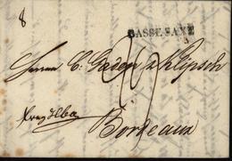 Allemagne 1806 Basse Saxe Noir Sur Lettre De Luebeck Pour Bordeaux Taxe Manuscrite 29