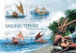 SOLOMON ISLANDS 2014 SHEET SAILING TEPUKE SHIPS BOATS Slm14517a - Solomoneilanden (1978-...)