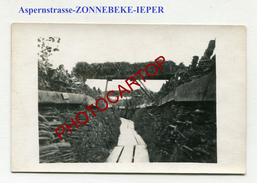 Aspernstrasse-ZONNEBEKE-Ypern-Ieper-Tranchee-Camouflage-Carte Photo All.-Guerre 14-18-1 WK-BELGIEN-Flandern-Militaria- - Zonnebeke