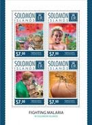 SOLOMON ISLANDS 2014 SHEET FIGHTING MALARIA Slm14520a - Salomon (Iles 1978-...)