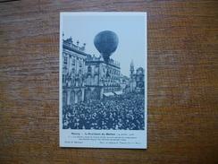 Réédition ... Nancy , L'accident Du Ballon  Du 14 Juillet 1908 , Le Ballon Touche Le Grand Hôtel - Nancy