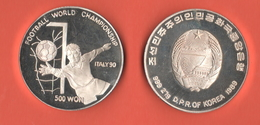 Nord Corea 500 Won 1989 Proof North Korea Calcio Soccer Football - Korea, North