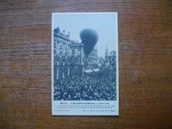 Réédition ... Nancy , L'accident Du Ballon  Du 14 Juillet 1908 , Le Ballon Descend On Sauve Les Aéronautes Par Un Balcon - Nancy