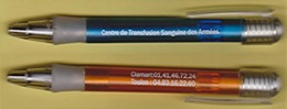 "1 Stylo ""CTSA - Centre De Transfusion Sanguine Des Armées"" [Sang] (scan Recto-verso)_D361 - Pens"