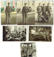 Foto/Photo. Militaria. Soldats à La Caserne, Jeep, Tank, Bières..... Lot De 6 Photos. - Krieg, Militär