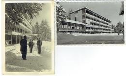Carte Postale + Photo. Montana-Vermala. Sana Belgica. Lot De 2 Articles. 1950. - Lieux