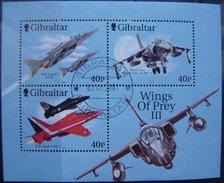 GIBRALTAR - H.BLOQUE IVERT Nº 46 USADO - AVIONES (R122) - Gibraltar
