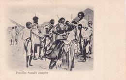 CPA  Animée AFRIQUE Familles Somalis Campées Précurseur - Cartes Postales
