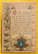 FIN XIXè : IMAGE DE MISSEL Desgodets & Gérard Pl 48 MEMENTO ET VIVES Communion 19 Mars 1893 / HOLY CARD  / SANTINO - Images Religieuses