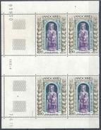 1973 ANDORRE Français  228** Tableau, Vierge, Bois, Bloc De 4, Coin Daté - French Andorra