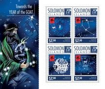 SOLOMON ISLANDS 2014 SHEET TOWARDS YEAR OF THE GOAT Slm14620a - Salomon (Iles 1978-...)