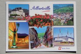 ALBERTVILLE (SAVOIE), Hôtel De Ville, Le Centre, Le Dôme Théâtre, Rue Gambetta, Halle Olympique (carte Multivues) - Albertville