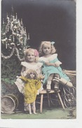 Kinder Mit Puppen & Anderen Spielsachen - Schweizer Militärstempel 1914     (A33-140711) - Jeux Et Jouets