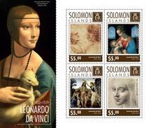 SOLOMON ISLANDS 2014 SHEET DA VINCI ART PAINTINGS ARTE PINTURAS Slm14706a - Islas Salomón (1978-...)