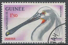 Guinea 1962. Scott #266 (U) White Spoonbill' Bird * - Guinée (1958-...)