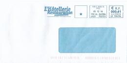 EMA CP 596194 Paris Bonvin + Flamme L'Hôtellerie Restauration Journal Revue Professionnelle - Hotels- Horeca
