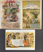 SPA 3 Cartes Reproduction D'anciennes Affiches De SPA - Spa