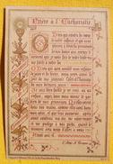 FIN XIXè : IMAGE DE MISSEL Desgodets & Gérard Pl 20 : TEXTE PRIERE A L'EUCHARISTIE Communion 1896 / HOLY CARD  / SANTINO - Devotion Images