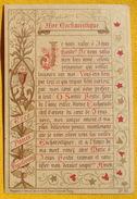 FIN XIXè : IMAGE DE MISSEL Desgodets & Gérard Pl 20 : TEXTE AVE EUCHARISTIQUE Communion 1896 / HOLY CARD  / SANTINO - Images Religieuses