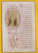 FIN XIXè IMAGE DE MISSEL Desgodets & Gérard Pl 88 TEXTE PRIERE + PHOTO ALBUMINE Communion 1899 / HOLY CARD / SANTINO110 - Devotion Images