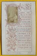 FIN XIXè IMAGE DE MISSEL Desgodets & Gérard Pl 113 TEXTE PRIERE + PHOTO ALBUMINE Communion 1899 / HOLY CARD / SANTINO110 - Devotion Images