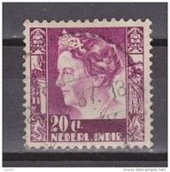 Nederlands Indie Netherlands Indies 255 With Watermark Used ; Koningin, Queen, Reine, Reina Wilhelmina 1938-1940 - Niederländisch-Indien