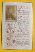 FIN XIXè IMAGE DE MISSEL Desgodets & Gérard Pl 225 TEXTE PRIERE + PHOTO ALBUMINE Communion 1898 / HOLY CARD / SANTINO110 - Devotion Images