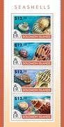 SOLOMON ISLANDS 2015 SHEET SEASHELLS SHELLS COQUILLAGES CONCHAS MUSCHELN CONCHIGLIE MARINE LIFE Slm15211a - Isole Salomone (1978-...)