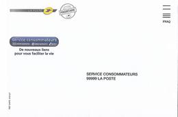 Enveloppe Fraq La Poste Service Consommateurs - Documents Of Postal Services